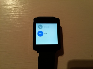 LG G Watch Start Apps