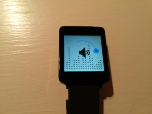 LG G Watch Wear Volume Control