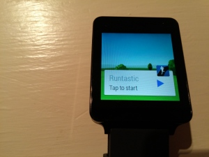 LG G Watch Runtastic